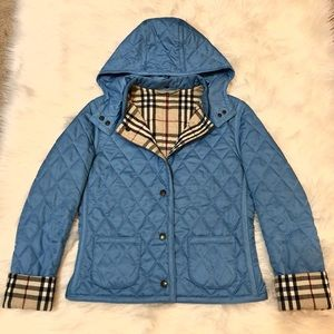 100% Authentic Burberry Quilted Jacket With Hood
